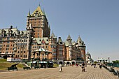 Chateau Frontenac and Dufferin Terrace, Quebec city, Province of Quebec, Canada, North America