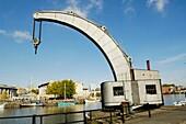 The sole surviving Fairbairn Steam Crane at Bristol's Floating Harbour, England, United Kingdom