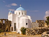 europe, greece, dodecanese, astypalea island, chora, castle, our lady of the castle church