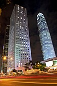 Jardine House L and International Finance Centre IFC Tower 2 at night in Central, Hong Kong Tallest building in Hong Kong