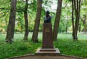 Theodor Storm Denkmal, Schlosspark Husum, Schleswig-Holstein, Deutschland