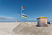 Main Beach, North Sea Island Juist, East Frisia, Lower Saxony, Germany