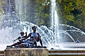 Fountain at the Herrenchiemsee, Chiemsee, Chiemgau, Upper Bavaria, Bavaria, Germany