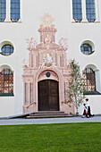 Kirche, Fronleichnamsprozession, Benediktbeuern, Alpenvorland, Oberbayern, Bayern, Deutschland