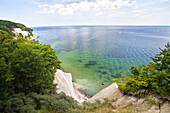 Chalk cliff coast, Ruegen, Jasmund National Park, Germany, Europe
