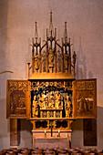 High altar of abbey church, Alpirsbach abbey, former Benedictine monastery, Alpirsbach, Baden-Württemberg, Germany, Europe