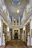 The historic Rococo room of the Duchess Anna Amalia Library, Weimar, Thuringia, Germany, Europe