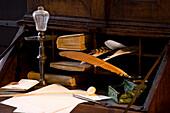 Composing room at Bachhaus, supposable house of Johann Sebastian Bach's birth, Eisenach, Thuringia, Germany, Europe