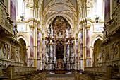 Central aisle of the Ebrach minster, a former cistercian monastery, Ebrach, Upper Franconia, Bavaria, Germany, Europe