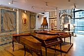 Exhibition of instruments in Händel-Haus, Halle an der Saale, Saxony Anhalt, Germany, Europe