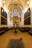 Grave of Johann Sebastian Bach in St. Thomas Church, Leipzig, Saxony, Germany, Europe