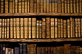 Books at library in the monastery of Waldsassen, Upper Palatinate, Bavaria, Germany
