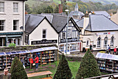 Village of Hay-on-Wye, often described as the town of books,  Powys, south-Wales, Wales, Great Britain