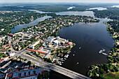 Humboldt Bridge, Culture Location Shipwright Lane, Berlin Suburb, Deep Sea, Saint Sea, Havel, Aerial Picture, Potsdam, Brandenburg, Germany