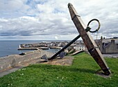 MACDUFF BANFFSHIRE Anchor on hill above town and harbour