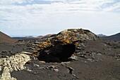 Timanfaya National Park TIMANFAYA LANZAROTE Lava tunnel lava bubble hole
