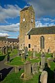 St Serfs DUNNING PERTHSHIRE Medieval clock tower gravestone cemetery