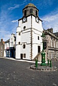 DYSART FIFE Town clock tower Tolbooth Queen Victorian Jubilee lamp post