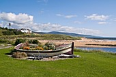 BRORA SUTHERLAND Decorative floral display boat Golf club Brora Scotland