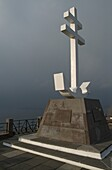 Lyle Hill GOUROCK RENFREWSHIRE Free French memorial overlooking Firth of Clyde