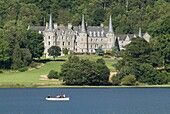 LOCH ACHRAY STIRLINGSHIRE Queen Elizabeth Forest Park and rowing boat Loch Achray Hotel timeshare
