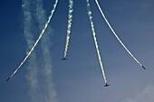 Israeli Air force IAF Fouga Magister CM-170 in aerobatics display