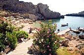 St Paul's Bay, Agios Pavlos, Lindos, Rhodes island, Greece