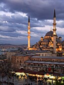 The Yeni Mosque, New Mosque or Mosque of the Valide Sultan Turkish: Yeni Camii Istanbul Turkey