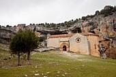 Hermitage of San Bartolome, Natural Park Canyon of Wolves River - Cañon de Río Lobos, Soria, Spain