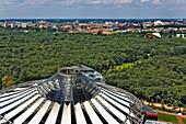 Tiergarten and Cupola of Sony Center Berlin Germany