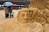Sandsation International festival of sand sculptures Berlin Germany