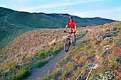 Rich Gardunia Ridge to Rivers Mountain Bike Ranger mountain biking the Three Bears Trail high in the Boise foothills near the city of Boise in southwestern Idaho