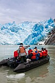 South Sawyer Glacier in Tracy Arm - Fords Terror Wilderness area in Southeast Alaska, USA