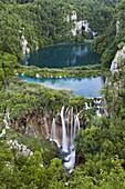 The Plitvice Lakes in the National Park Plitvicka Jezera in Croatia The lower lakes The Plitvice Lakes are a string of lakes connected by waterfalls They are in a valley, which becomes a canyon in the lower parts of the National Park The waterfalls ar