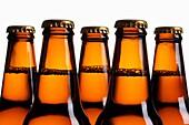 Beer Bottles, Close Up