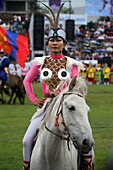 Opening ceremony at Naadam Festival, Ulaanbaatar, Mongolia