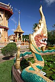 Detail of decorations of Wat Chalong temple, Phuket, Thailand