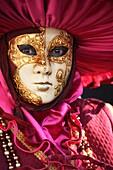 Venetian masks at Venice Carnival 2009, Italy