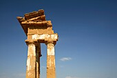 3 Columns of temple of Castor and Pollux Dioscuri, Agrigento, Italy
