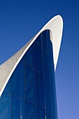 Architectural detail of Oceanographic, City of Arts and Sciences, Valencia, Spain