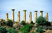 The Temple of Hercules in the ancient Greek Valley of Temples at Agrigento, Sicily, Italy