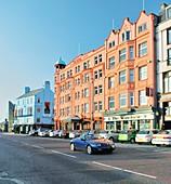 Hotels and restaurants in the seaside resort of Bangor near Belfast, County Down, Northern Ireland