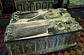 The mediaeval tomb of Piers and Margaret Butler inside St Canice's Cathedral in the town of Kilkenny, County Kilkenny, Ireland