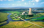 Bellacorick peat turf fired power station, County Mayo, Ireland Peat turf fired electricity power generating station