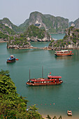 View over bay from Ti Top island, Ha Long Bay, Vietnam