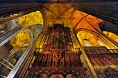 Gewölbe , Kathedrale, la Giraglia, Sevilla, Provinz Sevilla, Andalusien, Spanien, Mediterrane Länder