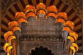 Innenarchitektur, Mezquita-Catedral, Cordoba, Provinz Cordoba, Andalusien, Spanien, Mediterrane Länder