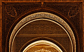 Rich ornament, arch of a cathedral in oriental style, Granada, Alhambra, Andalusia, Spain, Mediterranean Countries