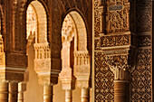 Arcade of cathedral in oriental style, Granada, Alhambra, Andalusia, Spain, Mediterranean Countries
