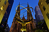 St, Patricks Cathedral, Atlas, Rockefeller-Center, Highrise, Manhattan, New York, USA, New York City, New York, USA, North America, America